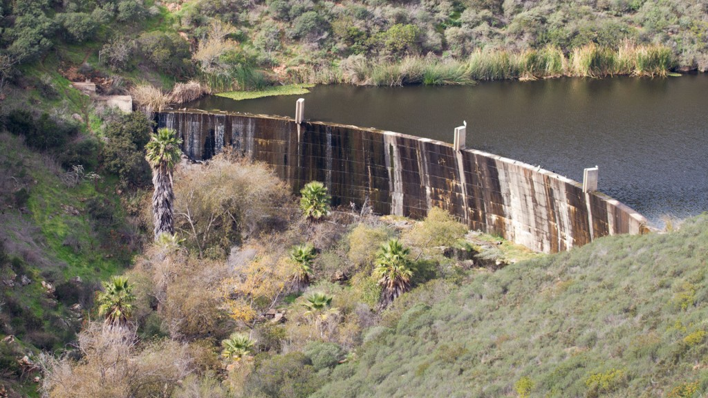 Lake San Marcos Dam, Photographed December 4, 2010 by Michael St.Onge